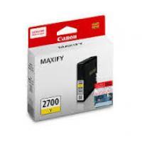 Mực in Phun mầu Canon 2700Y (Yellow) - Màu vàng - Dùng cho Canon Maxify iB4070/ MB5370/ MB5070
