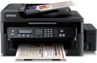 Máy in Phun màu Đa chức năng Epson L555 - Khổ A4 (in A4, Scan, Copy, Fax và đảo giấy tự động, In wifi)