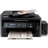 Máy in Phun 04 màu Đa năng Epson L565 (in, scan, copy, Fax, Wifi) - Khổ A4 - Máy in có gắn sẵn bộ tiếp mực ngoài chính hãng Epson